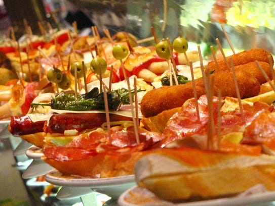 Assorted tapas in Spain