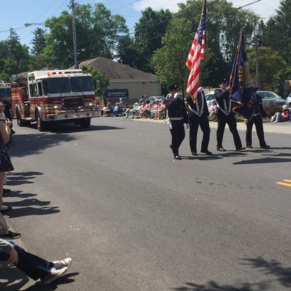 The Hyde Park Fire Department closes out the annual Memorial Day parade Monday.