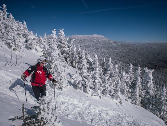 Steve Yates with the Stowe Mountain Resort ski patrol