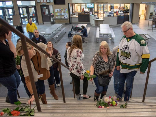 Humboldt Mayor Rob Muench, in the Broncos team jersey,