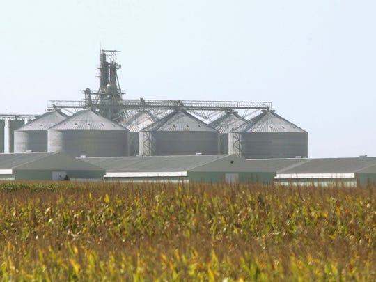 A large egg-producing complex run by Quality Egg, which is owned by the DeCosters, is seen in this file photograph near Galt, Ia.