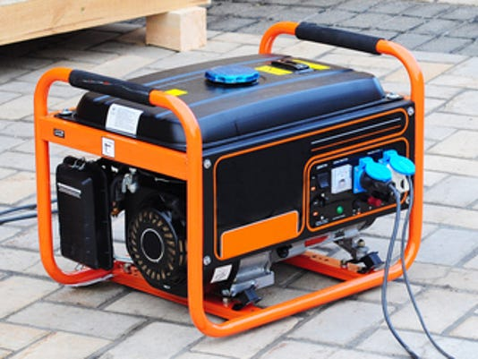 NOT FOR PRINT hurricanes weather Mobile Diesel Generator on the Construction Site