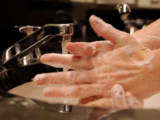 Hand washing with soap and water is most effective.