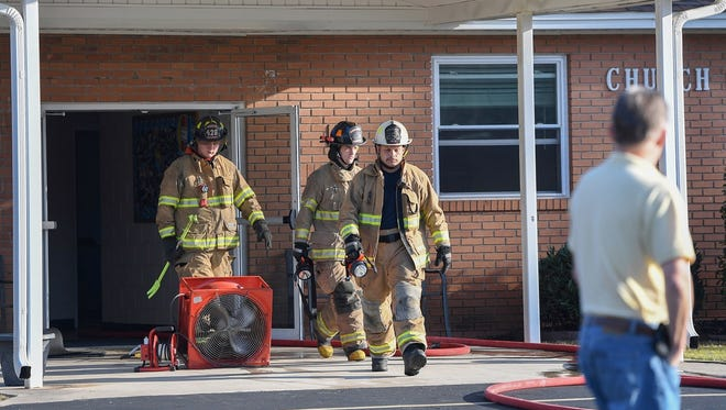 A fire at Edgewood Church of Christ in Greenville Thursday morning caused some damage to a bathroom and the attic area.