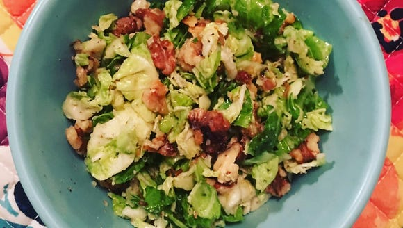 For a twist on fall salads, try using Brussels sprouts.