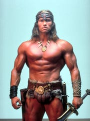 Arnold Schwarzenegger suits up in 'Conan the Barbarian.'