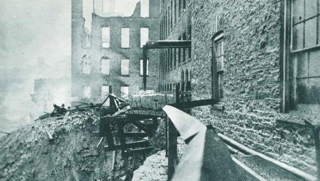 The aftermath of the deadly 1888 fire at the Steam Gauge and Lantern Co.