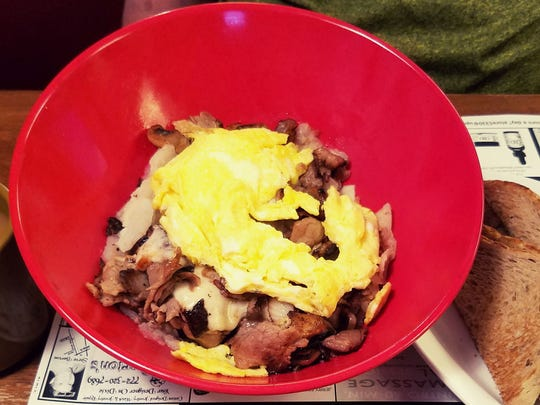3 Brothers Brunch's Philly Cheesesteak Skillet with