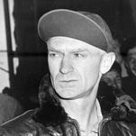 War correspondent Ernie Pyle is shown in this undated U.S. Navy photograph. Pyle, the most-famous, most-widely read and most admired of all World War II war correspondents, was killed while covering the action on the tiny Pacific island of Ie Shima on April 18, 1945.
