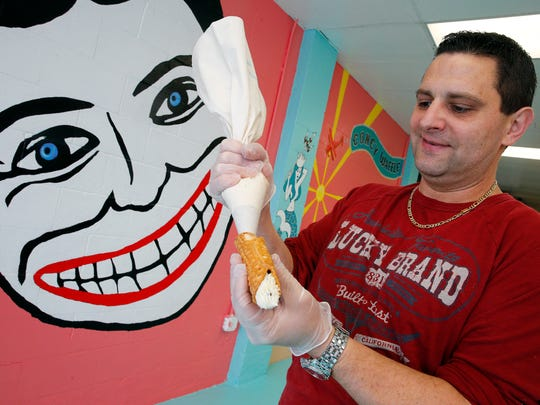 Joe D'Esposito, owner of the new Coney Waffle in Belmar,