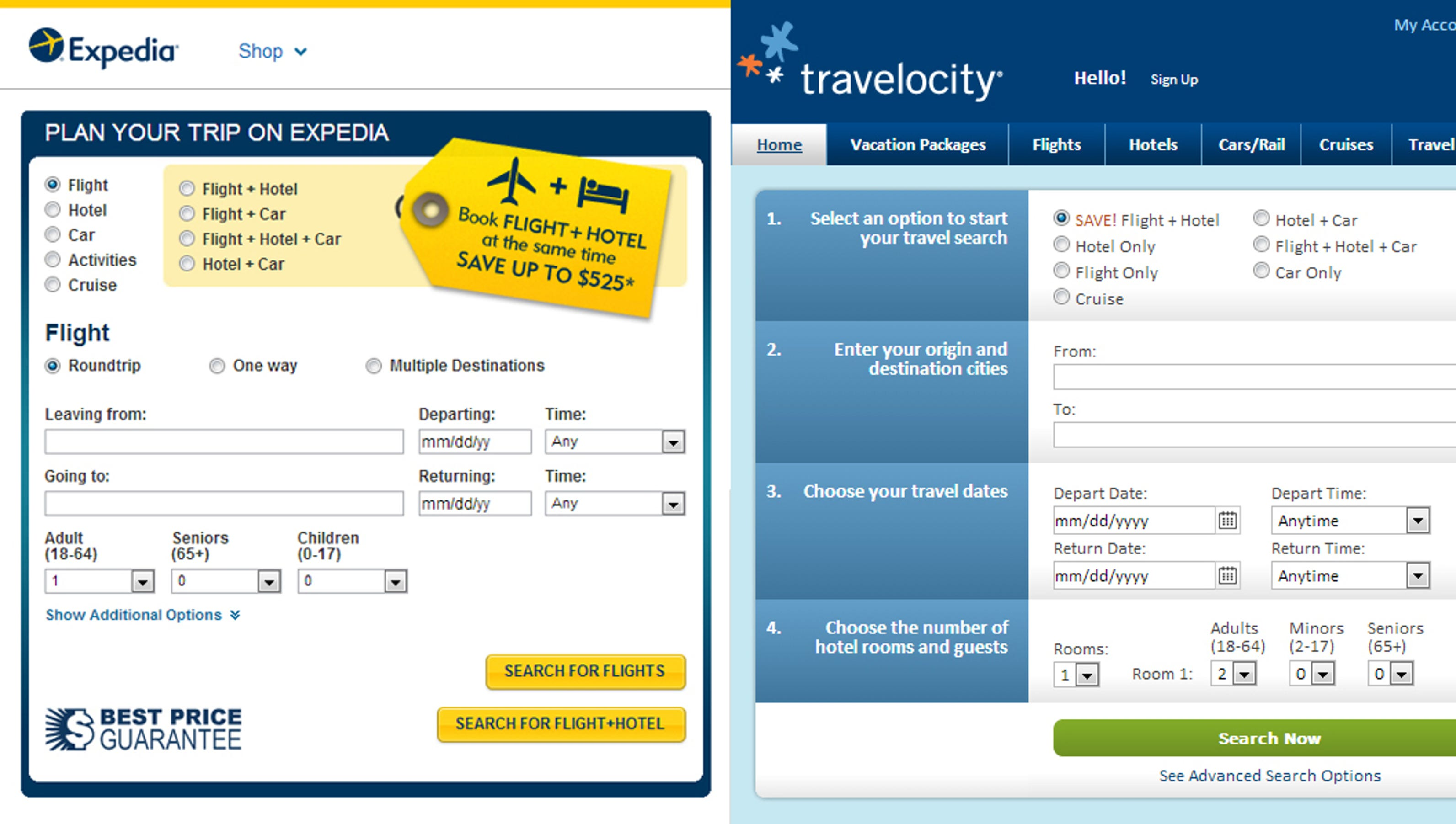 Expedia Travel Services Usa
