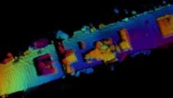 A 3-D sonar image of the WWII light aircraft carrier USS Independence, which was scuttled in 1951 off San Francisco after being used as a target in two nuclear test blast in the South Pacific. The image shows what appears to be an airplane in one hangar bay.