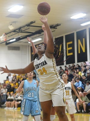 Ventura High's Kenya Henderson was picked as the top girls basketball player by the Ventura County coaches.