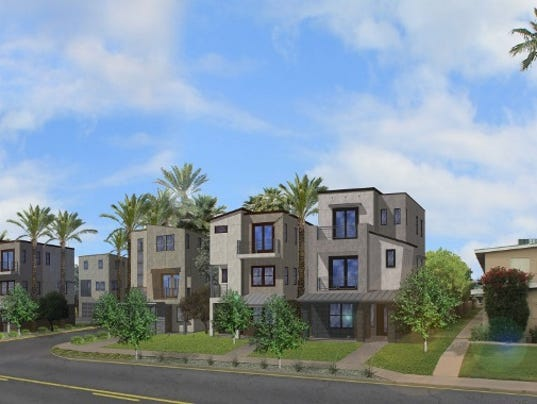 New urban style homes going up in old town scottsdale for New homes that look old