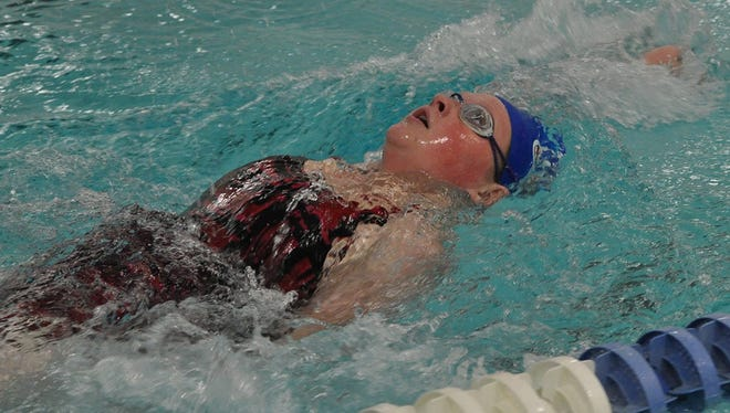 John Glenn's Hope Young placed second in the backstroke.