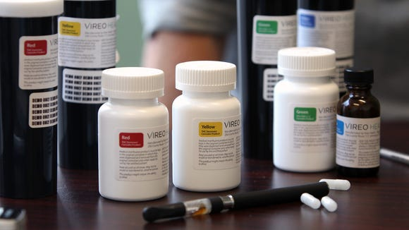 Various forms of medical marijuana at the Vireo Health of New York dispensary in White Plains.
