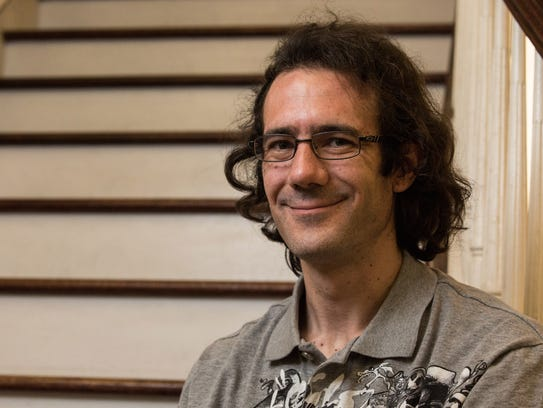 Arnaud Perret, SU French and Spanish lecturer, poses
