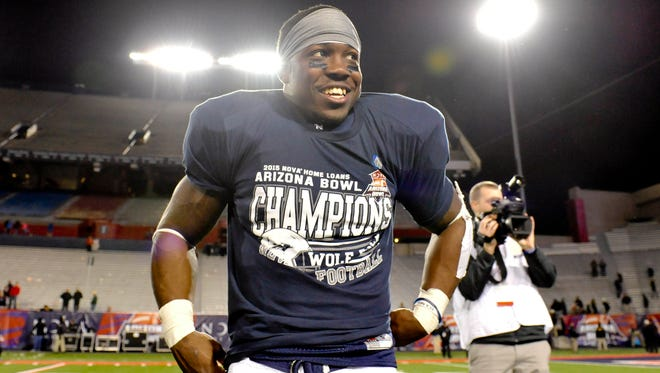 Wolf Pack running back James Butler won the Arizona Bowl offensive MVP in Nevada's win over Colorado State.