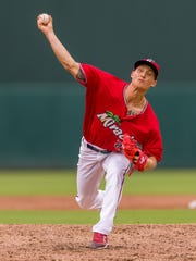 Griffin Jax, a Fort Myers Miracle pitcher, is the son