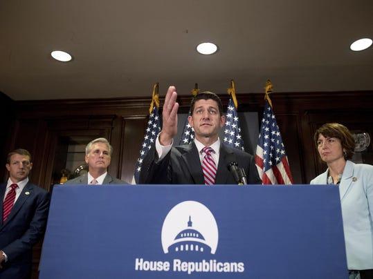 Paul Ryan, Markwayne Mullin, Kevin McCarthy, Cathy McMorris Rodgers