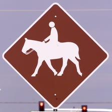 Horse-trail crossing.