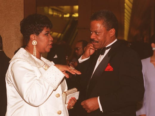 In March 1994, Aretha Franklin and Bernard Shaw from