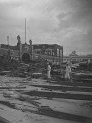 Damage in Asbury Park after the Great Atlantic Hurricane