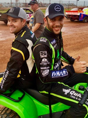 Ricky Stenhouse Jr. (left) and Bryan Clauson were close friends, growing up on dirt tracks together. Clauson died last August, and Stenhouse has promised to be there for his family.