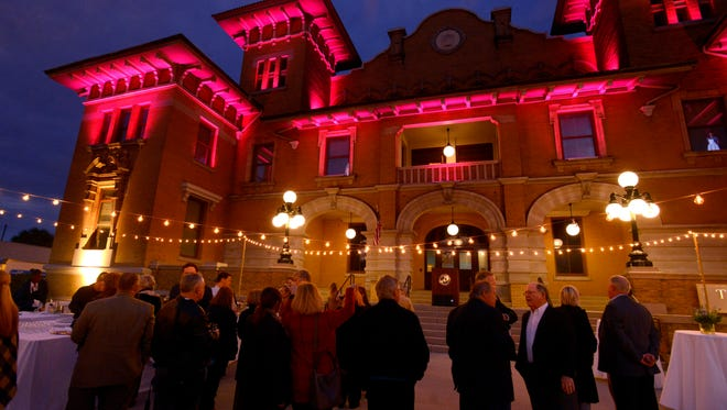 The new lighting of the iconic T.T. Wentworth Jr. Florida State Museum was revealed Thursday night.