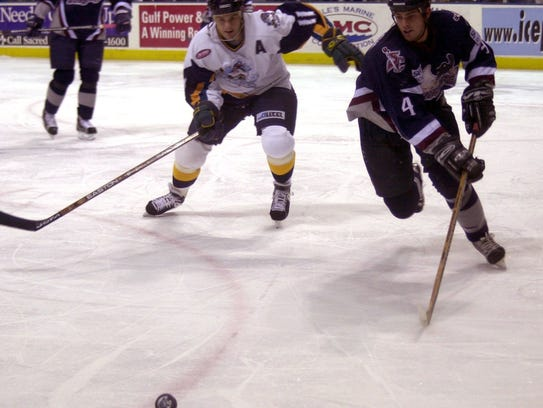 In this photo from 2000 season, the Pensacola Ice Pilots