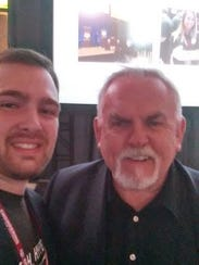 Correll French, left, got to meet Cliff Clavin from