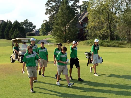 Houston County High School men's golf team at the regional