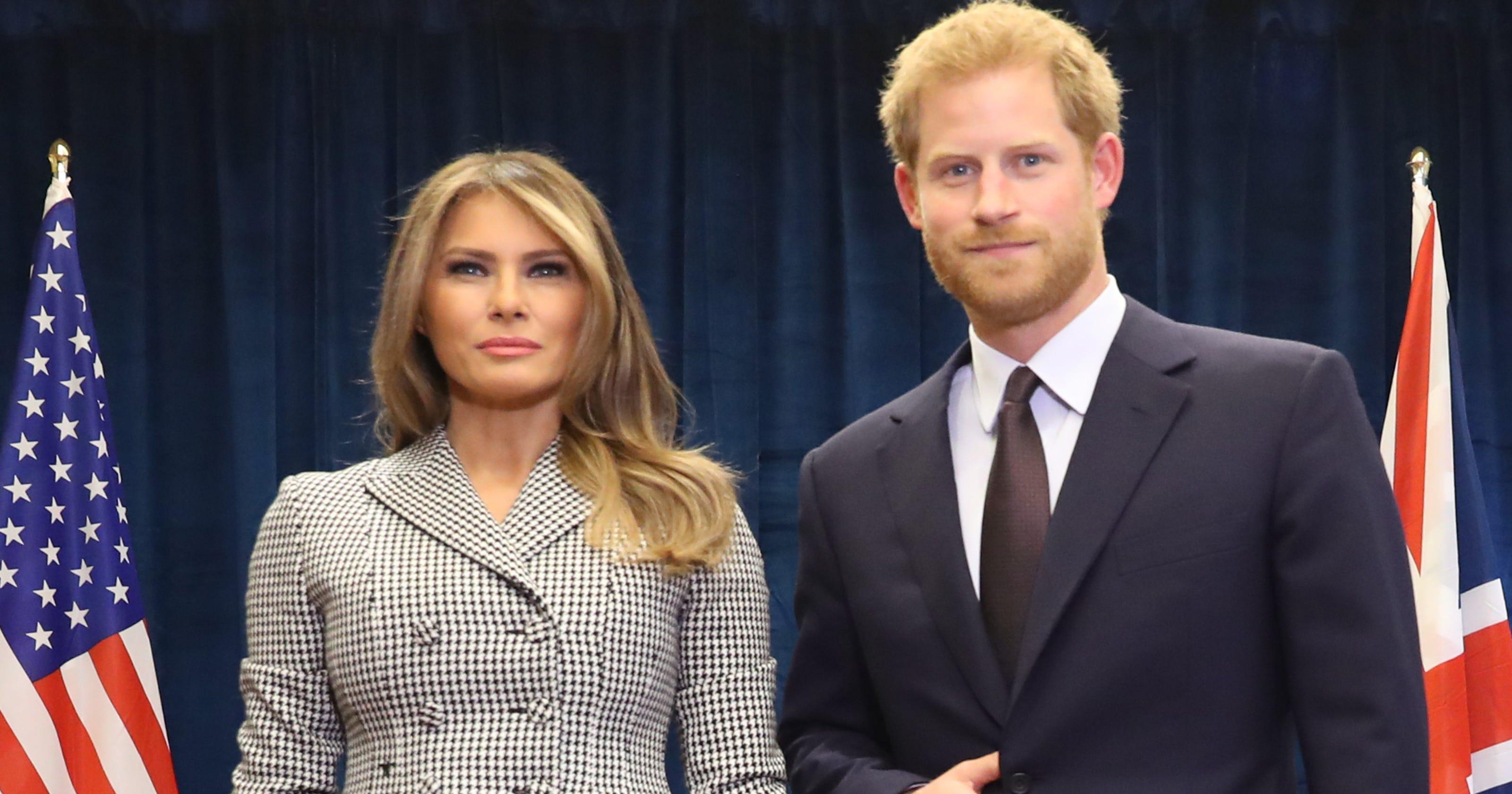 16b220b4 Prince Harry, Melania Trump meet in Toronto