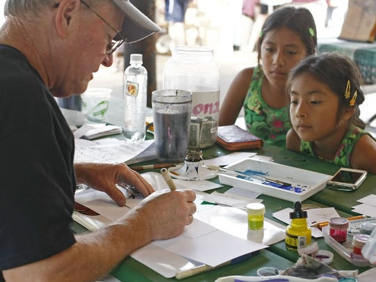 See demonstrations of calligraphy at the Silverton Fine Art Festival Aug. 20-21 in Collidge-McClaine Park.