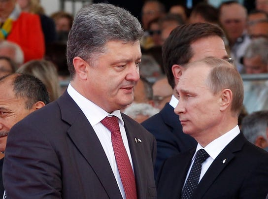 Putin, Poroshenko