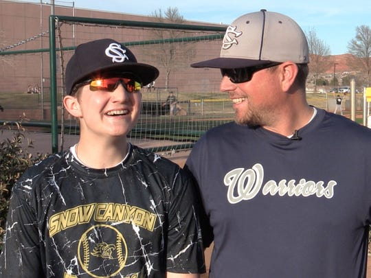 Britton Shipp, and his father Jesse Shipp, discuss his recovery and the role of baseball in their lives Wednesday, March 2, 2016.