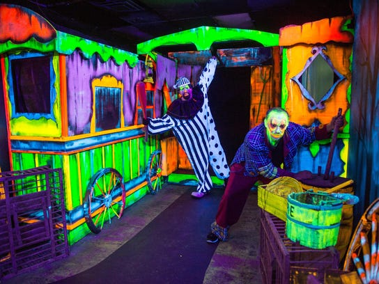 """Some of the scary clowns populating """"Big Top Terror"""""""