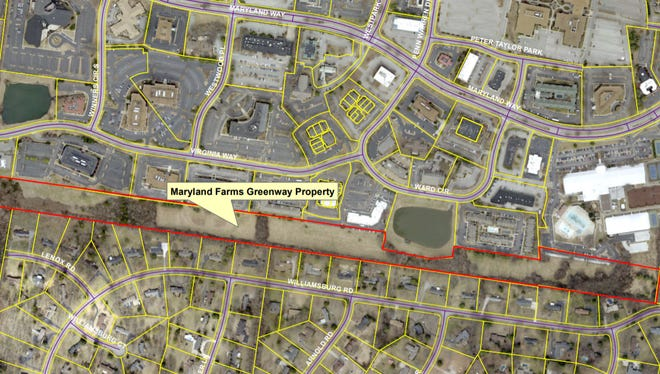 The City of Brentwood is planning to rezone a 20-acre strip of land to allow for a walking trail between Maryland Farms and surrounding neighborhoods.