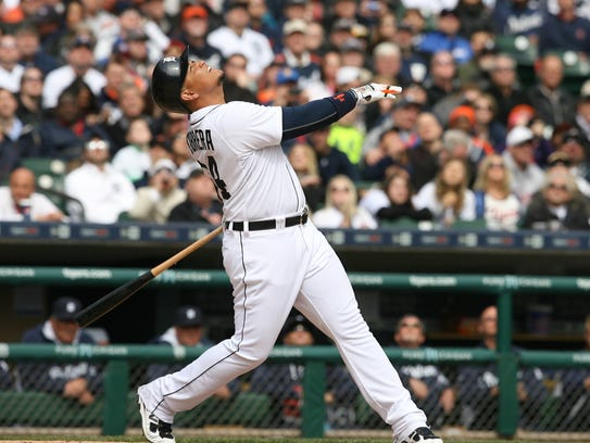 Detroit Tigers Miguel Cabrera pictured on Monday, April