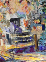 """Alley Up II,"" by Southwest Florida Pastel Society member Ginny Stocker"