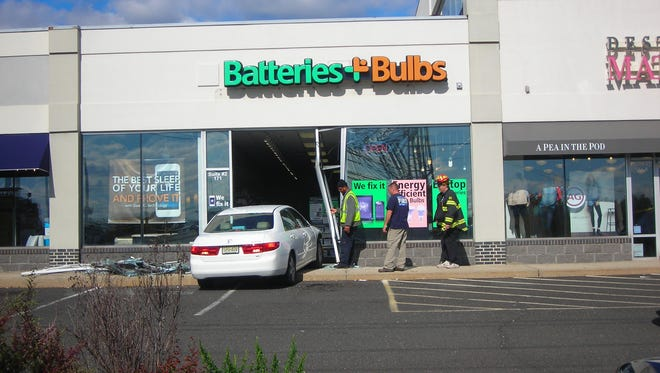 Car crashed through this store in Woodbridge.