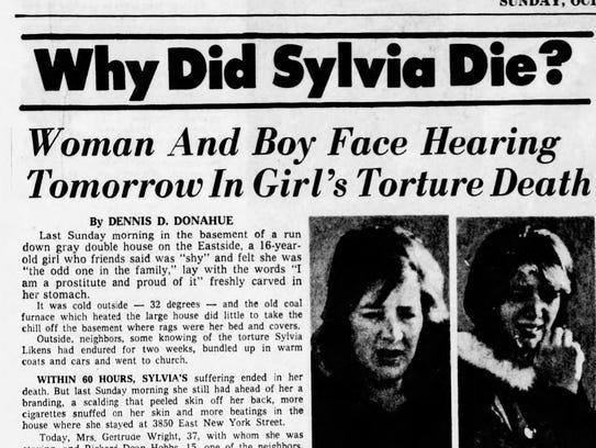 Why did Sylvia die?