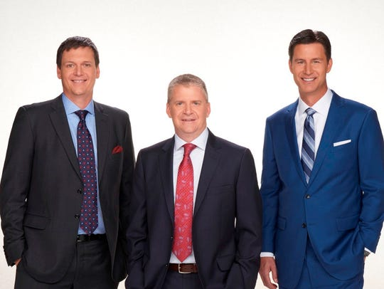 (From left to right) Analysts Steve Letarte and Jeff