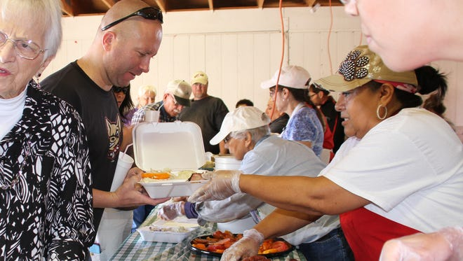 The Klobase Festival served over 2,500 pounds of barbecue beef brisket, 2,600 pounds of Klobase Sausage during last year's event. Over 3,000 plates went out.