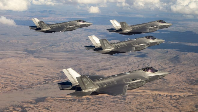 NOW: F-35 fighter jets from Luke Air Force Base in Glendale, Arizona.