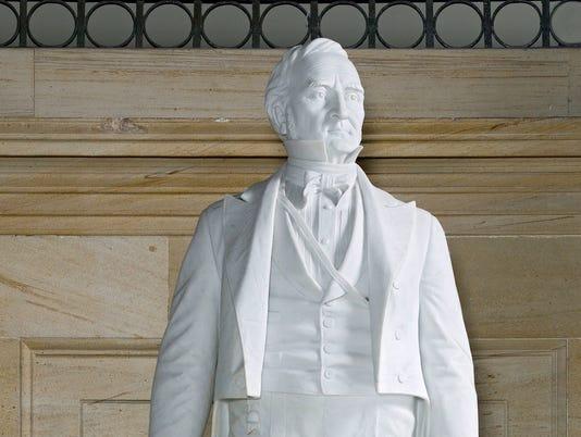 Thomas Hart Benton statue