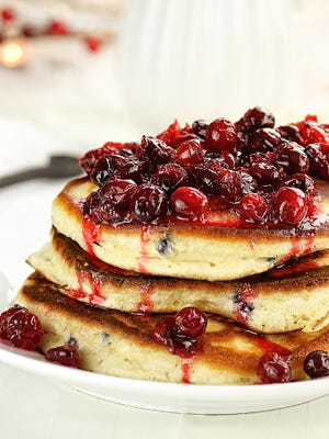 Cranberry pancakes will be served Saturday at the Biron Municipal Building.