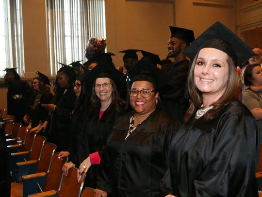 Scenes from Thursday's commencement ceremony for Ridley