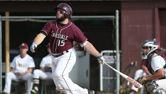 Scarsdale's Tyler Mandel hits a solo home run against