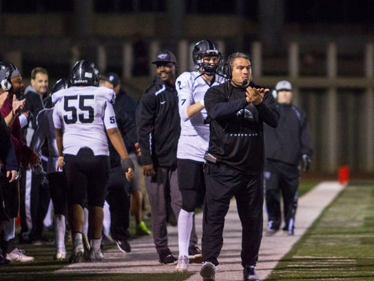 Pine View head coach Ray Hosner coaches his team during